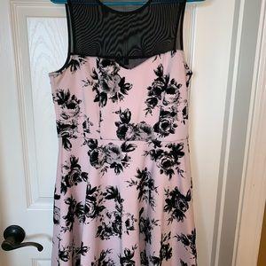 Beautiful Pink and black dress